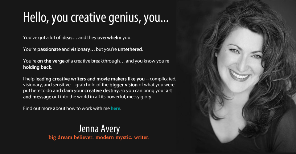 Writing coach Jenna Avery offers resources for serious & sensitive writers