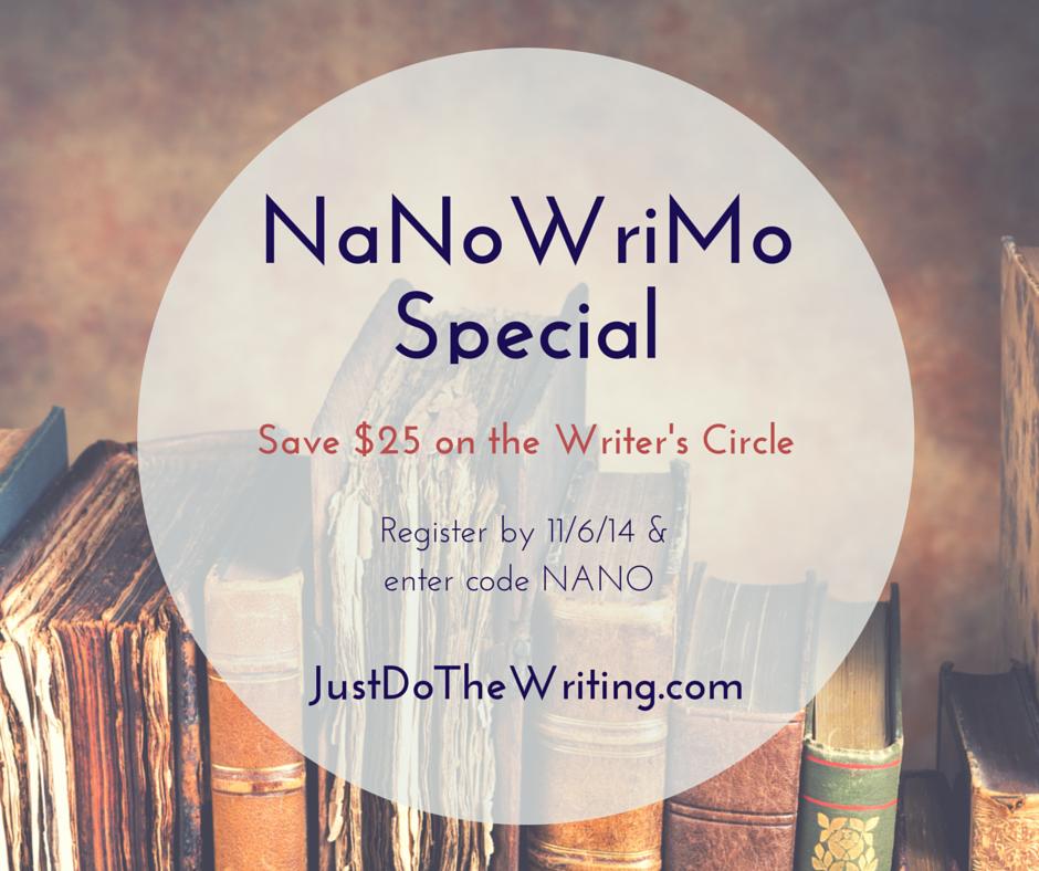 NaNoWriMo Writer's Circle special